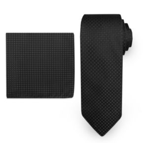 Big & Tall Steve Harvey Solid Tie & Pocket Square