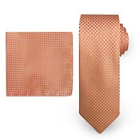 Big & Tall Steve Harvey Solid Tie & Pocket Square