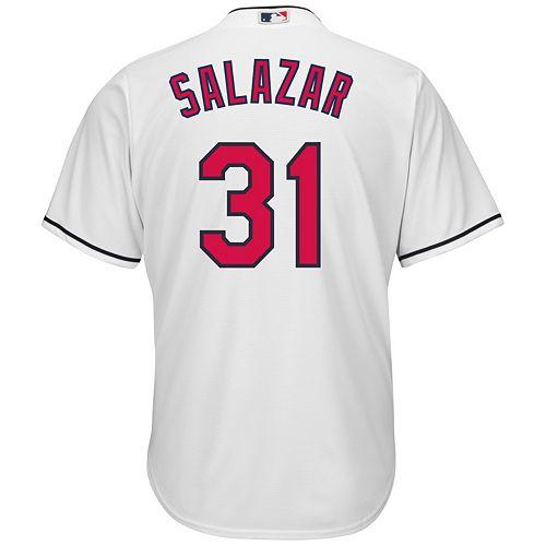 Men's Majestic Cleveland Indians Danny Salazar Cool Base Replica MLB Jersey