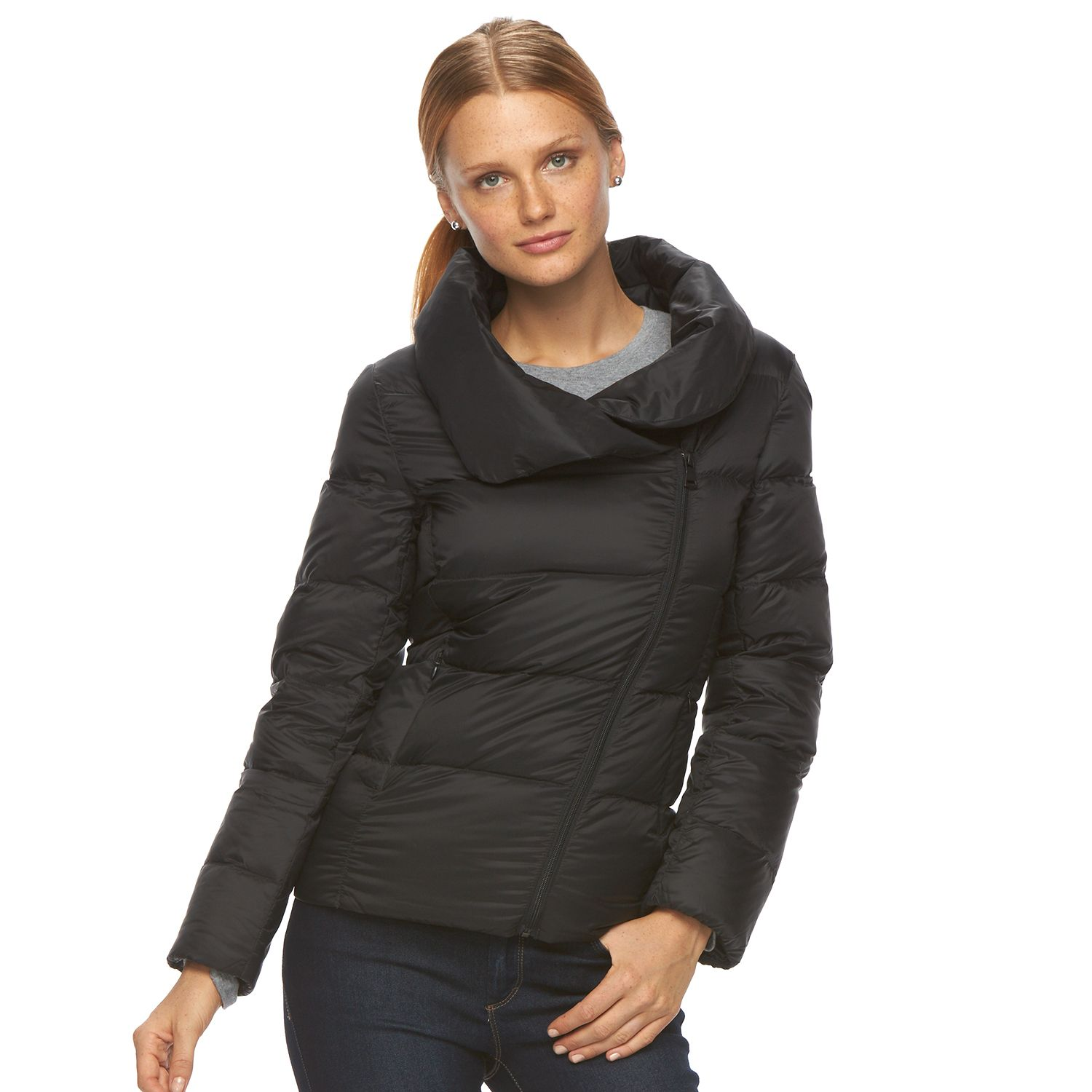 Womens Neo-I by Orobos Asymmetical Down Puffer Jacket