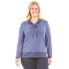 Plus Size Balance Collection Chloe Cowlneck Hoodie