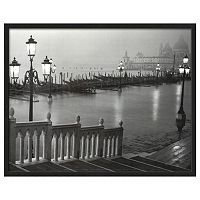 Art.com Venice (Grand Canal, B&W) Framed Wall Art