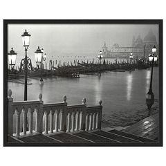 Art.com Venice (Grand Canal, B&W) Framed Wall Art