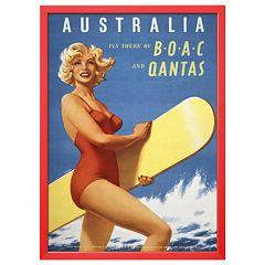 Art.com 'Fly to Australia' Framed Wall Art