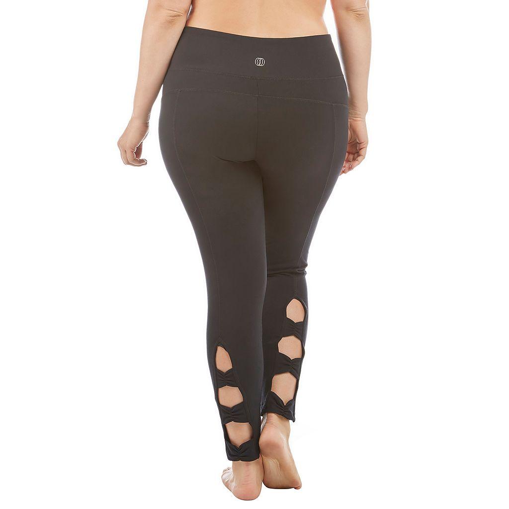Plus Size Balance Collection Mila Cutout-Hem Leggings