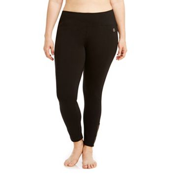 Plus Size Balance Collection Zippered-Hem Ponte Leggings
