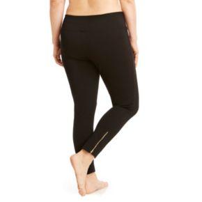Plus Size Balance Collection Zippered-Hem Ponte Leggings