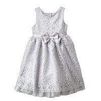 Girls 4-6x Nannette Glitter Lace Bow Dress