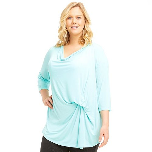 Plus Size Marika Curves Hannah Ruched Tee