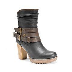 MUK LUKS Skylynn Women's High Heel Ankle Boots