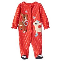 Baby Girl Rudolph the Red Nosed Reindeer Rudolph & Clarice Sleep & Play