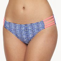 Mix and Match Striped Strappy Hipster Bikini Bottoms
