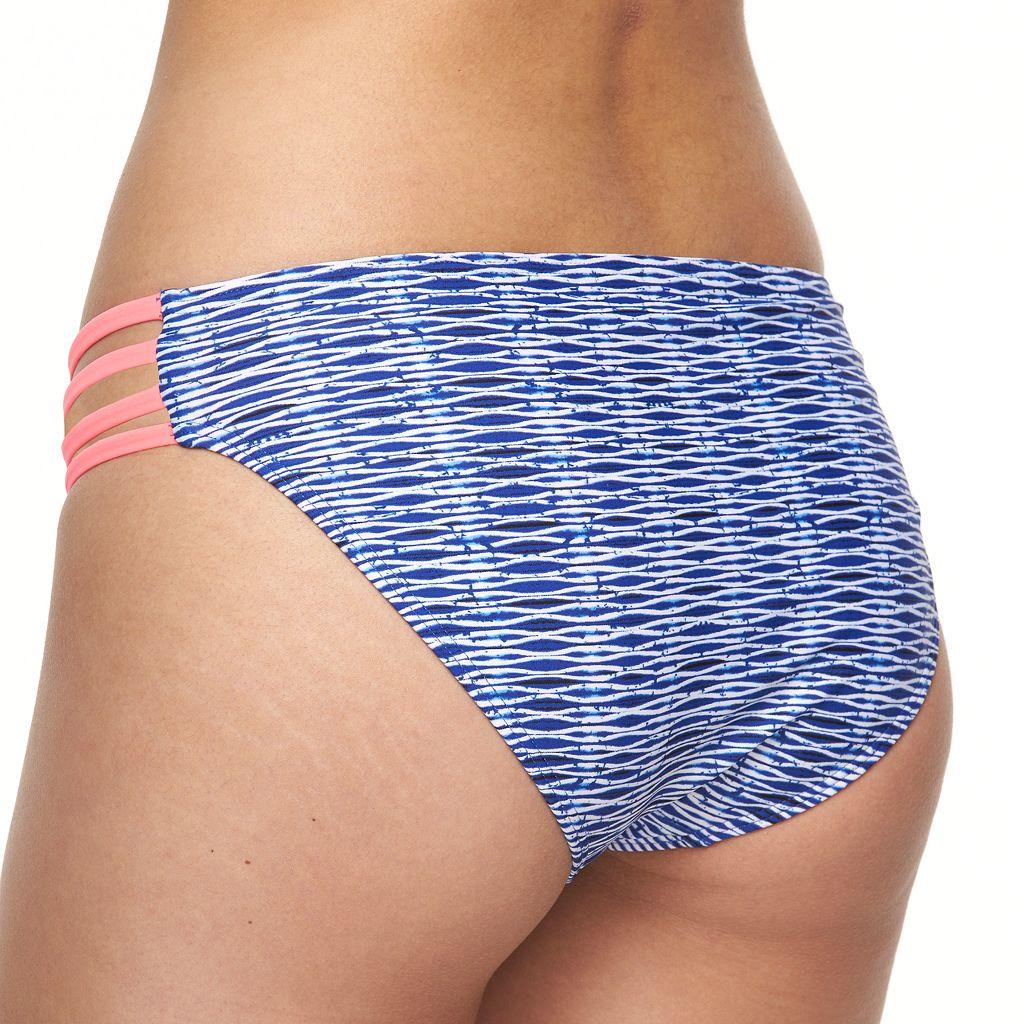 Mix and Match Striped Strappy Hipster Bikini Bottoms