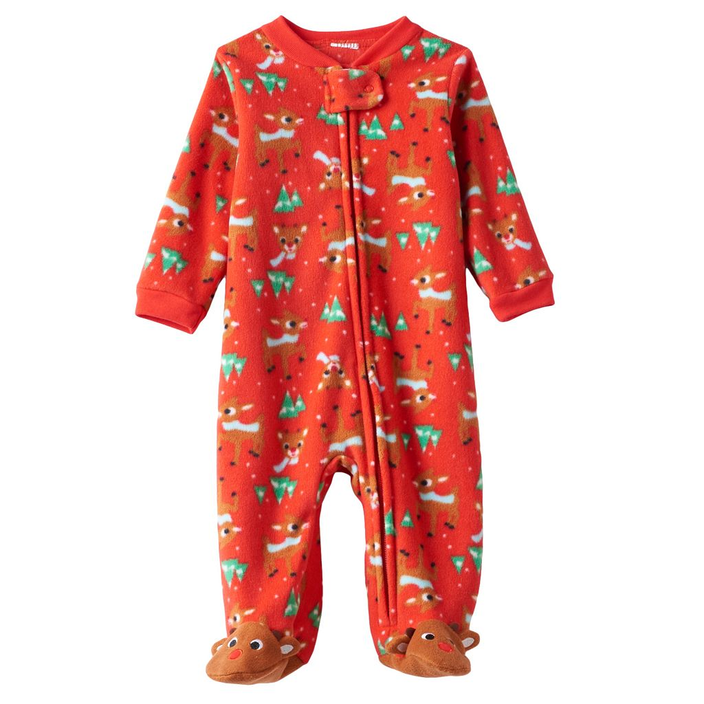 Baby Rudolph the Red Nosed Reindeer Rudolph Pattern Fleece Sleep & Play