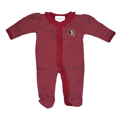Creative Knitwear Florida State Seminoles Striped Footed Baby Romper