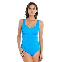Women's Croft & Barrow® Body Sculptor Control Solid One-Piece Swimsuit