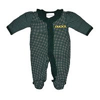 Baby Two Feet Ahead Oregon Ducks Pin Dot Footed Bodysuit