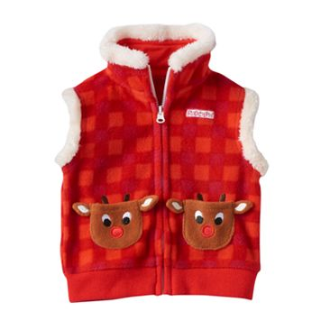 Baby Rudolph the Red Nosed Reindeer Rudolph Pocket Sherpa-Lined Fleece Vest