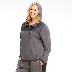 Plus Size Marika Curves Broadway Foil Hoodie