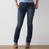 Women's SONOMA Goods for Life™ Curvy Fit Slim Straight-Leg Jeans