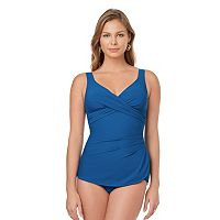Women's Croft & Barrow® Tummy Slimmer One-Piece Swimsuit