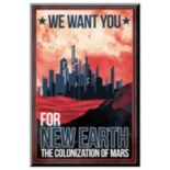 "Art.com ""We Want You"" Colonize Mars Wall Art"