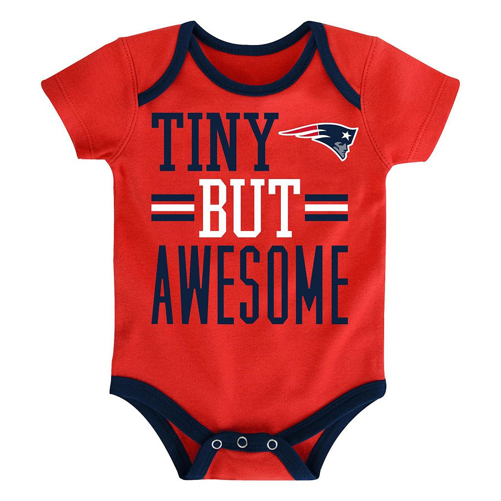 Baby New EnglandPatriots 3-Piece Bodysuit Set