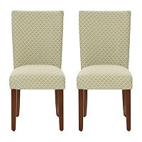 HomePop Parson Quatrefoil Dining Chair 2-piece Set