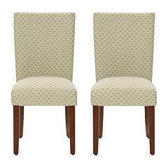 HomePop Parson Quatrefoil Dining Chair 2-piece Set