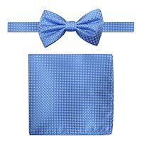 Men's Steve Harvey Neat Solid Pre-Tied Bow Tie & Solid Pocket Square