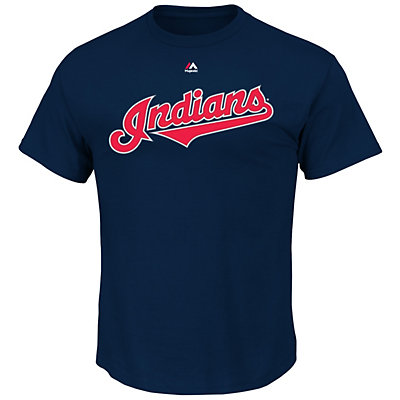 Men's Majestic Cleveland Indians Jason Kipnis Player Name and Number Tee