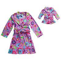Girls 4-14 Dollie & Me Print Long-Sleeved Bath Robe