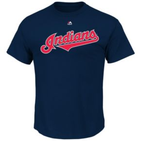 Men's Majestic Cleveland Indians Danny Salazar Player Name and Number Tee