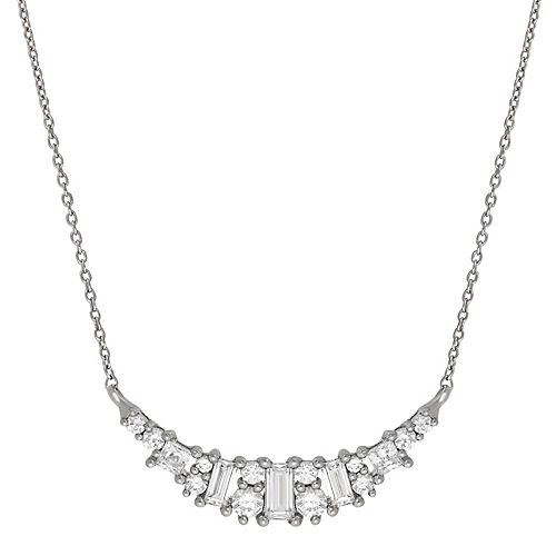 Emotions Sterling Silver Cubic Zirconia Statement Necklace