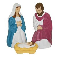 General Foam Plastics Nativity Indoor / Outdoor Christmas Decor 3-piece Set
