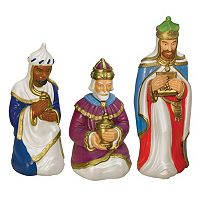 General Foam Plastics Wisemen Indoor / Outdoor Christmas Decor 3-piece Set