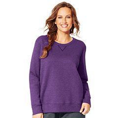 Plus Size Just My Size  Fleece Crew Sweatshirt