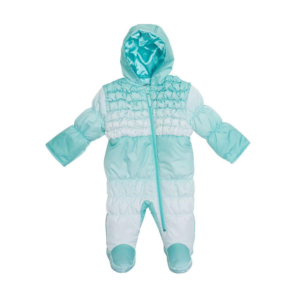 Baby Wippette Dip-Dye Hooded Smocked Pram
