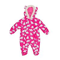 Baby Girl Wippette Polar Bear Hooded Fleece Pram