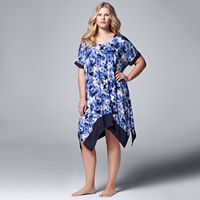 Plus Size Simply Vera Vera Wang Pajamas: Sweet Nothings Short Sleeve Sleep Shirt