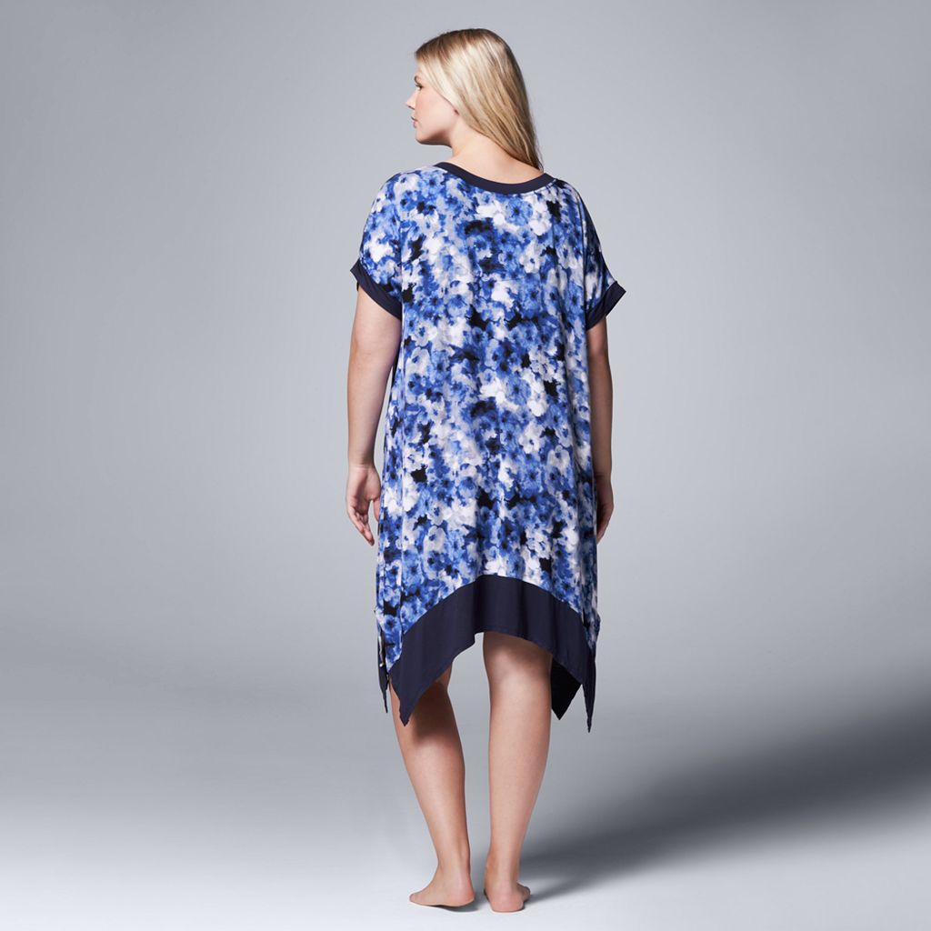 Plus Size Simply Vera Vera Wang Pajamas: Sweet Nothings Short Sleeve Sleep Shirt