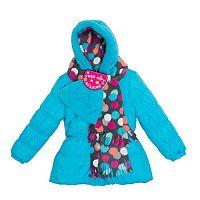 Toddler Girl Pink Platinum Dot Puffer Heavyweight Jacket