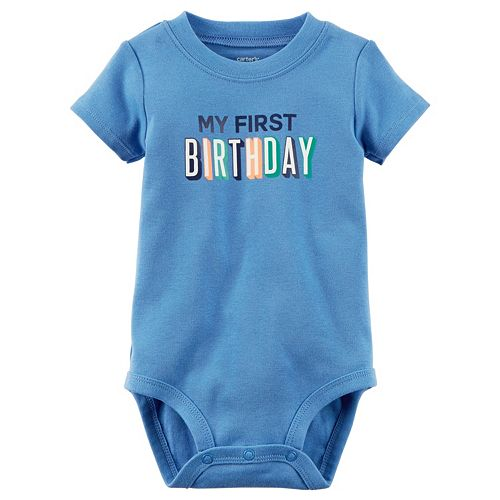 "Baby Boy Carter's ""My First Birthday"" Bodysuit"