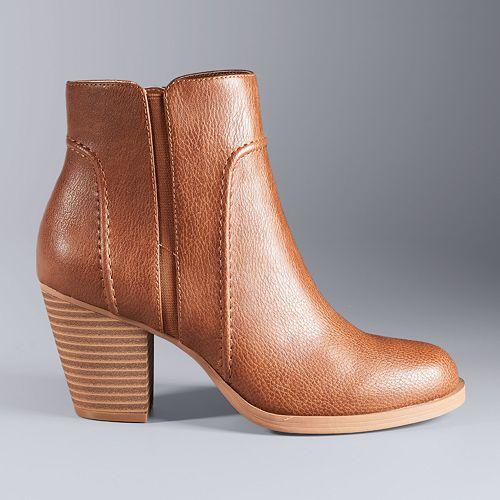 Simply Vera Vera Wang Women's High Heel Ankle Boots
