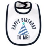 "Baby Boy Carter's ""Happy Birthday To Me"" Embroidered Hat Bib"