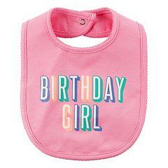 Baby Girl Carter's 'Birthday Girl' Bib