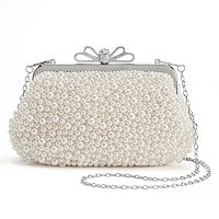 Lenore by La Regale Beaded Bow Clutch
