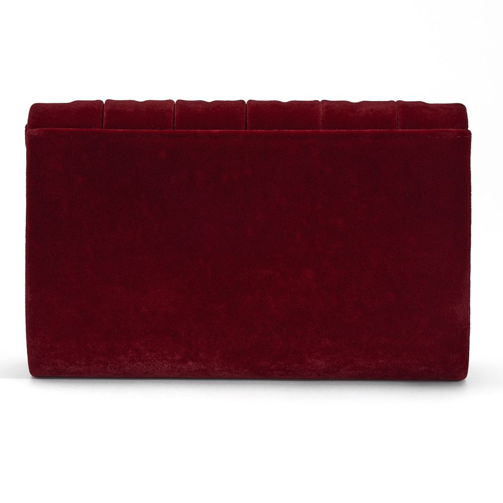 Lenore by La Regale Velvet Roll Clutch