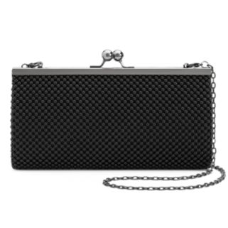 Lenore by La Regale Ball Mesh Clutch Wallet