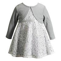 Baby Girl Youngland Sleeveless Lace Dress & Cardigan Set